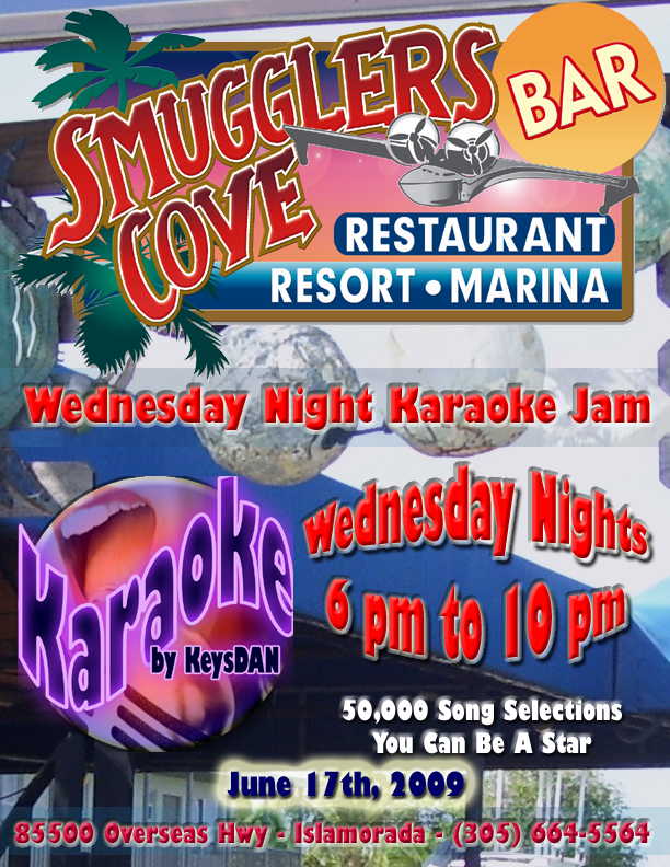 2009-06-10 Smuggler's Cove Karaoke Jam Wednesdays 6pm to 10pm Islamorada Florida Keys