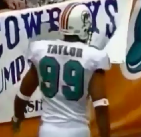 Former Dolphin Jason Taylor Owns this Fan's Sign