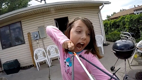 Girl Pulls Out Her Own Tooth with a Slingshot